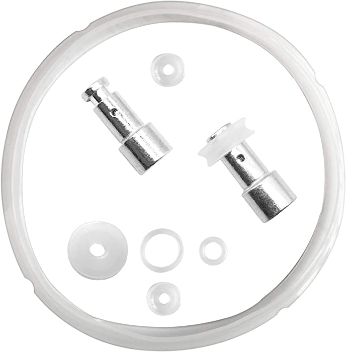 Silicone Sealing Ring Clear + Pressure Cookers Gasket + Universal Replacement Floater and Sealer for 5/6 Quart Models