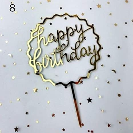 Amazon.com: 1 pieza de decoración de tarta de feliz ...