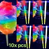 PartyLights Novelty Party Fun Novelty GloCone: LED Cotton Candy Cone-10 pieces