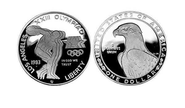 1988 S US Mint Olpympic Proof Commemorative Silver Dollar $1 Gem Brilliant Proof US Mint