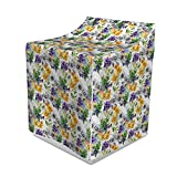 Lunarable Floral Washer Cover, Iris Flowers in Watercolors Spring Theme Pattern Romantic Sketchy Botanical Artwork, Suitable for Dryer and Washing Machine, 29'' x 28'' x 40'', Multicolor