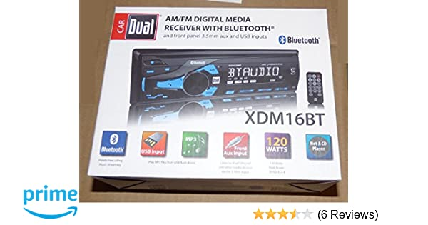 Amazon Dual Amfm Digital Media Car Stereo With Bluetooth Xdm16bt Radio Electronics: Diagram Radio Dual Wiring Xdm16bt At Jornalmilenio.com