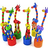 EUNOMIA Baby Kids Wooden Colorful Standing Rocking Dancing Giraffe Gift Intellectual Toy