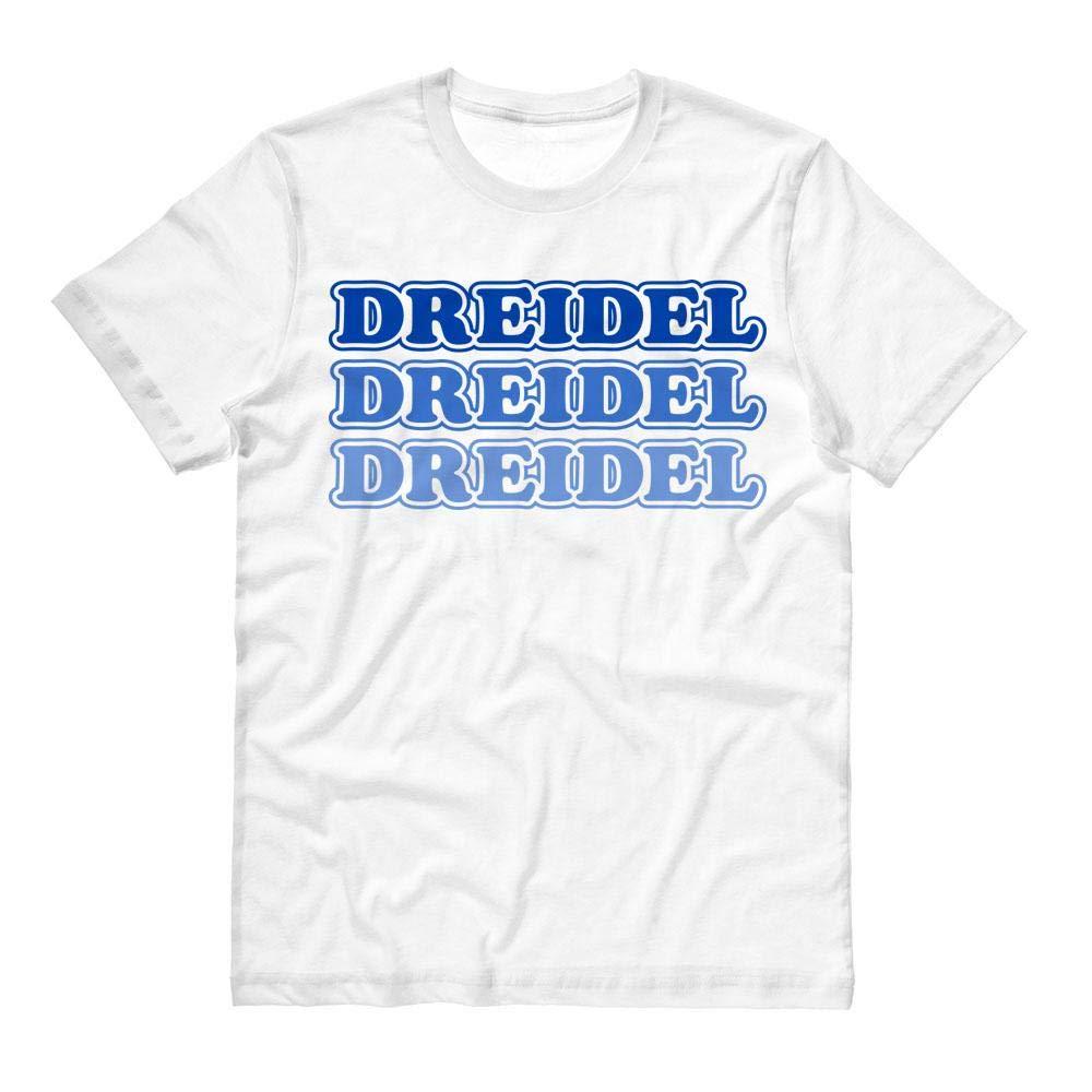 TeesAndTankYou Dreidel Dreidel Dreidel Shirt Unisex 3X-Large White