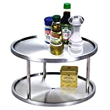 The Storage Space Is Generous Stainless Steel 2-tier Lazy Susan