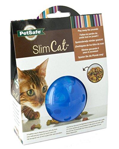 PetSafe SlimCat Meal Dispensing Cat Toy, Blue