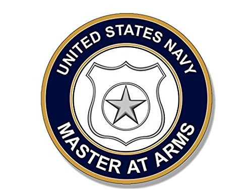Round US Navy MASTER AT ARMS Logo Sticker (insignia)- Sticker Graphic Decal