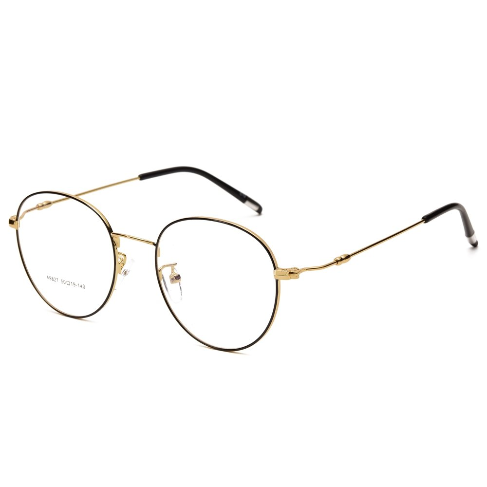 Lanford Retro Round Clear Frame Glasses With Plastic Lens For Women ...