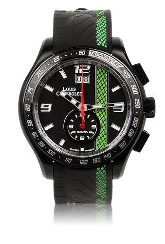 Louis Chevroletクオーツブラックダイヤルメンズ腕時計lc12600 B00M4M13QM