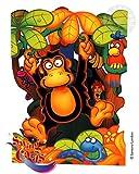 Santoro Interactive 3-D Swing Card, Monkey Greeting Card