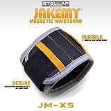 Stellar JAKEMY JM-X5 | 14.6 inch | Magnetic Wristband | 5 Strong Magnets 2 Pockets | Handyman Tool | Best DIY Gift