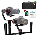 FeiyuTech a2000(10th Anniversary Edition) Dual Grip Handle Kit for DSLR Camera, Foldable Handle,Compatible with NIKON/SONY/CANON Series Camera and lens, 2 Kilogram Payload, Damping Sliding Arm