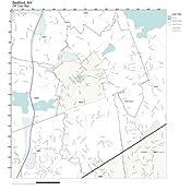 Amazon.com: ZIP Code Wall Map of Bedford, NY ZIP Code Map Not