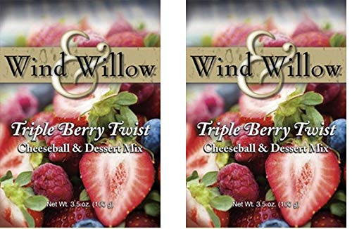 (Wind & Willow Sweet Cheeseball and Dessert Mix - 3.5 Oz. (2-pack) (Triple Berry Twist))