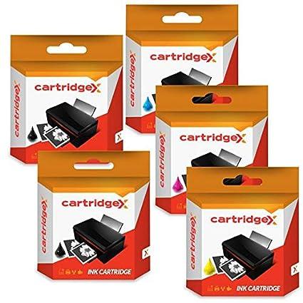 Cartridgex - Juego de 5 Cartuchos de Tinta compatibles para HP ...