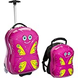 Bella Butterfly Upright Carry-On and Backpack