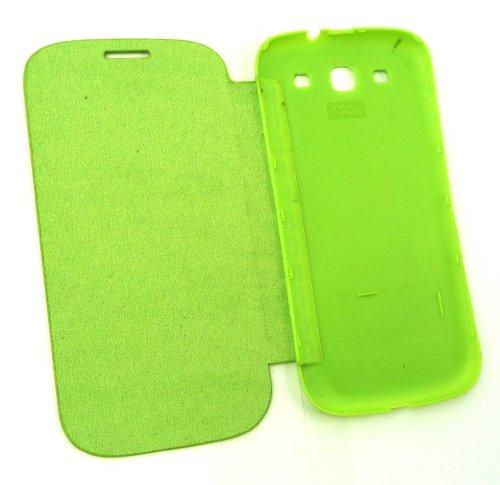 Emartbuy ® Sparkling Stylus Pack Para Samsung Galaxy S3 I9300 Slimline Monedero Caso / Cubierta / Bolsa Verde Con La Cubierta De La Batería + Sparkling Mini Verde Stylus + Protector De Pantalla