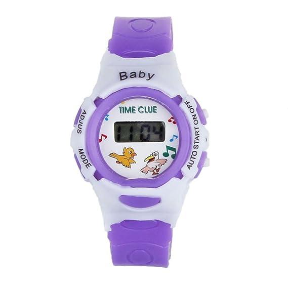 SMARTLADY Digital Deporte Reloj de pulsera para Niña Niño (Morado)