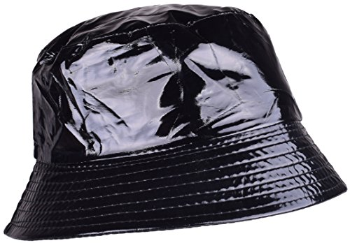 YJDS Black Bucket Hat Waterproof Golf Sun Hats Packable Rain Cap For Men and Women (Rain Hat Safari)