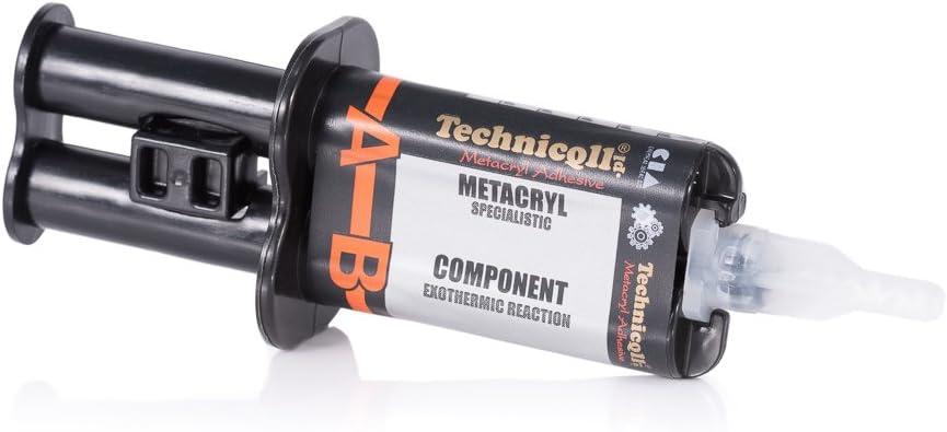 Pegamento de metacrilato de dos componentes 2x3ml Curado rápido 5min Unión de alta resistencia