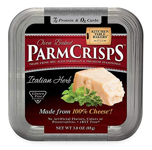 ParmCrisps 100% Cheese Crisps Keto Friendly, Gluten Free, 3 Ounce Tub (Pack of 12) (Italian Herb) by ParmCrisps (Image #2)