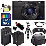 Sony Cyber-shot DSC-RX100M4 IV Digital Camera + Extra battery + Charger + 128GB Bundle 9 - International Version (No Warranty)