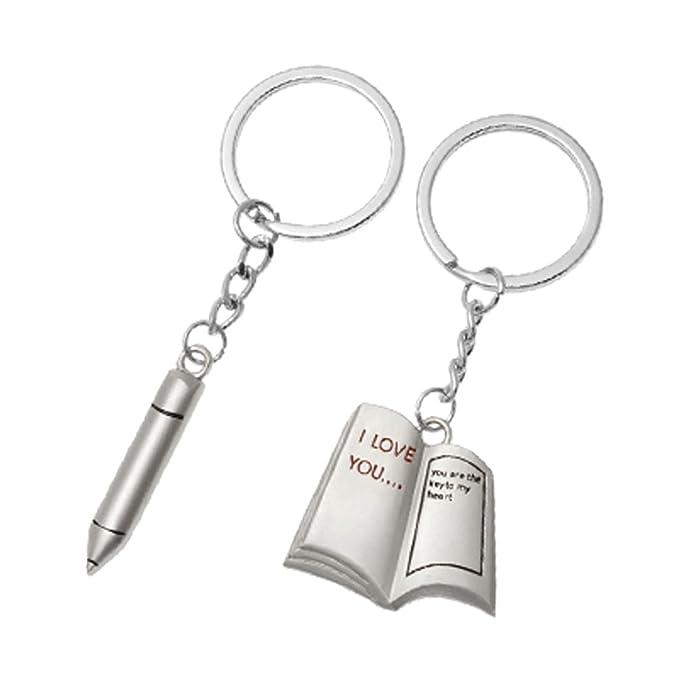 Sourcingmap - ® Llavero con lápiz y libro colgante para ...