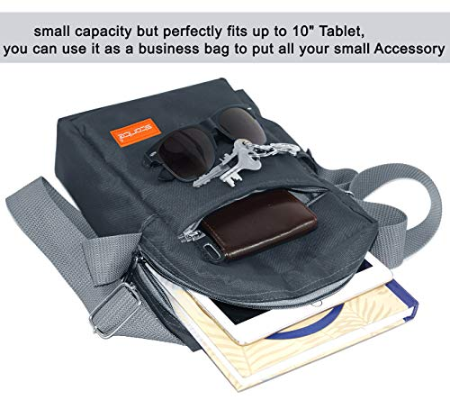 Storite Stylish Nylon Sling Cross Body Travel Office Business Messenger one Side Shoulder Bag for Men Women (25x16x7.5cm) (Dark Grey) 8