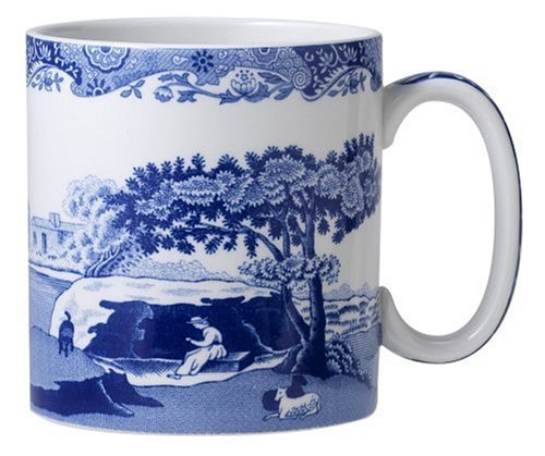 Spode Blue Italian Mug Set of 4 Jumbo Mug 16 Oz ()