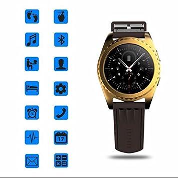 Reloj Inteligente Bluetooth Relojes de pulsera de deporte,Sensor de frecuencia cardíaca,multideporte,Sleep Monitor,parlante hablar,Podómetro,Apto para ...