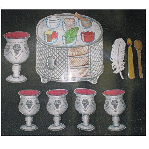 Kid Drawn Passover B.B. Set 9 Pc. - Kid Drawn Bb Set