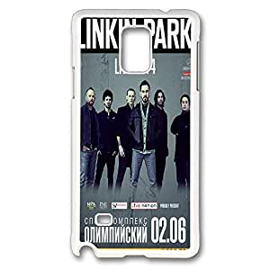 samsung note 4 Case and Cover linkin park 2014 msk PC case Cover for samsung note 4 White