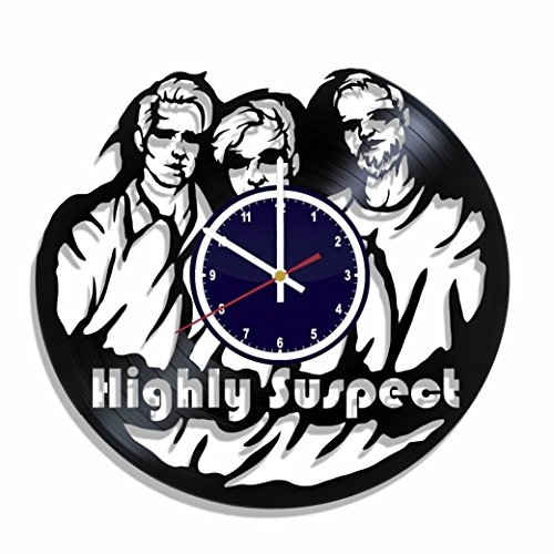 Wall clock Highly Suspect rock band made from real vinyl rec