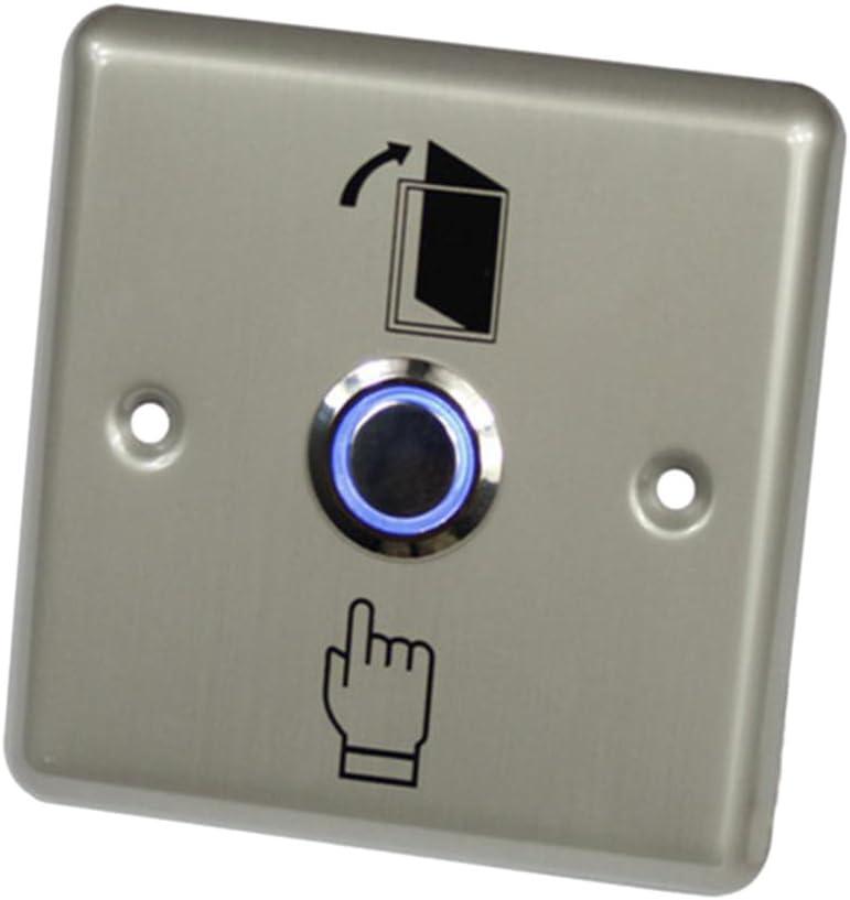 Sharplace Bouton de Sortie G/âche de Porte en M/étal avec LED