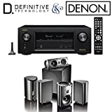 Denon AVR-X3300W Receiver Bundle with Definitive Technology ProCinema 1000 Speaker System (Black)