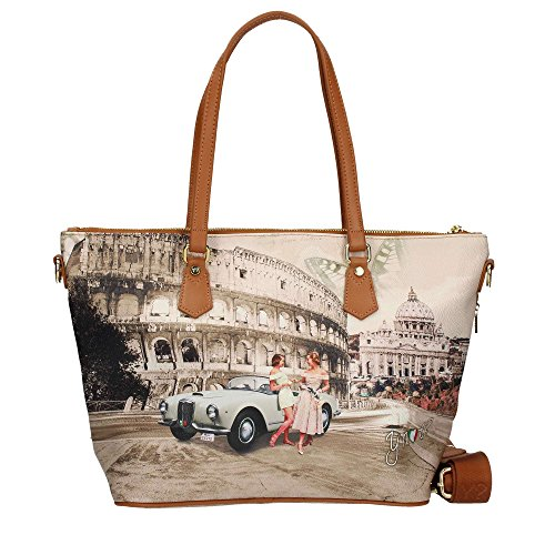 Y NOT J-396 Shopper Frau MULTICOLOR TU