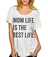 Superluxe™ Womens Mom Life Is The Best Life Tri-Blend Dolman T-Shirt