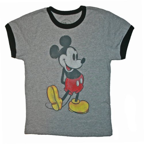 Mens Classic Mickey Mouse T Shirt (S, Grey)