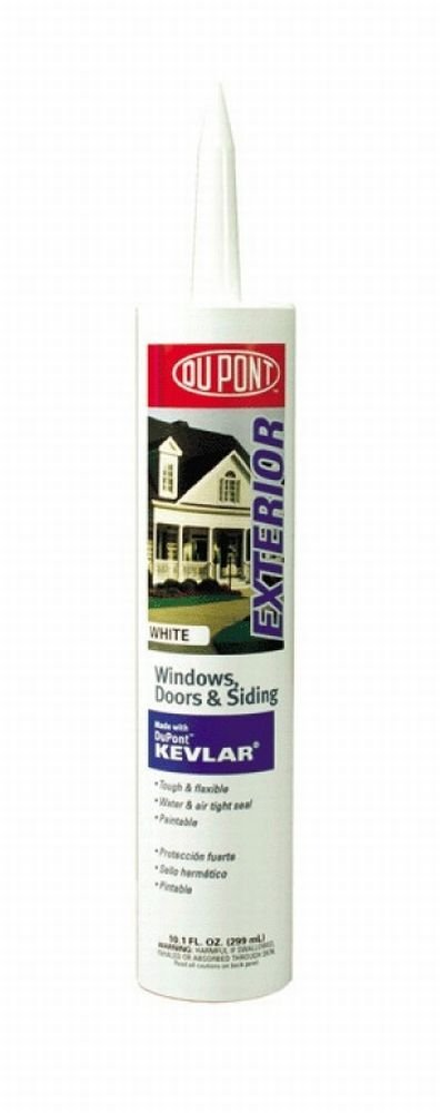 DuPont 07800 12 Pack 10.1 oz. Window Door and Siding Sealant with Kevlar, White by DuPont