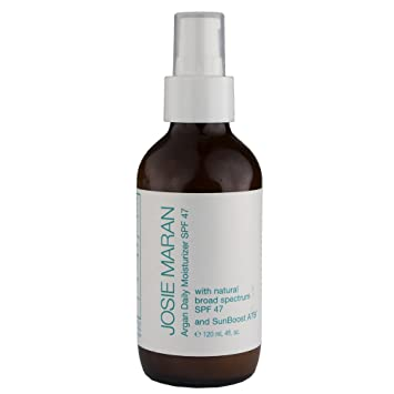 Josie Maran Argan Daily Moisturizer SPF 47 with Sunboost ATB (Luxury (4oz/120ml)) Satin Smooth Hydrasonic Professional Cleansing Brush