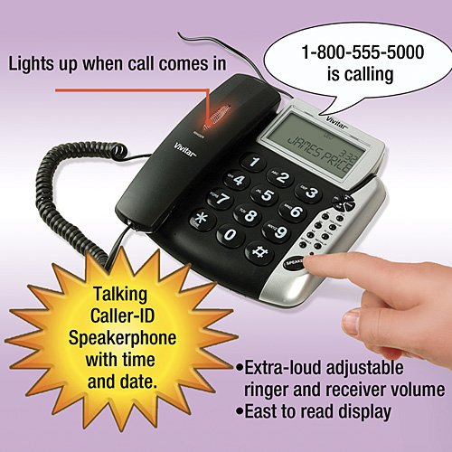 amazon com extra loud talking caller id speakerphone for hearing rh amazon com Superman Walkie Talkie Sakar International Sakar Telephone
