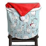 Llama Animal Christmas Chair Covers Modern Design Smooth Chair Covers For Christmas For Family Christmas Chair Back Covers Holiday Festive