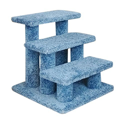 New Cat Condos Premier Post Stairs, Blue