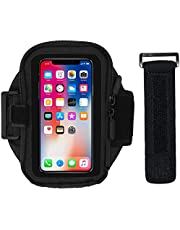 Mobile Phone Running Armband - Workout Holder with Adjustable Strap & Pouch - Universal Arm Band for iPhone X XS 6 6S SE Galaxy S9 S8 S7 S6 - Compatible with Otterbox Commuter & Defender Case (20 in)