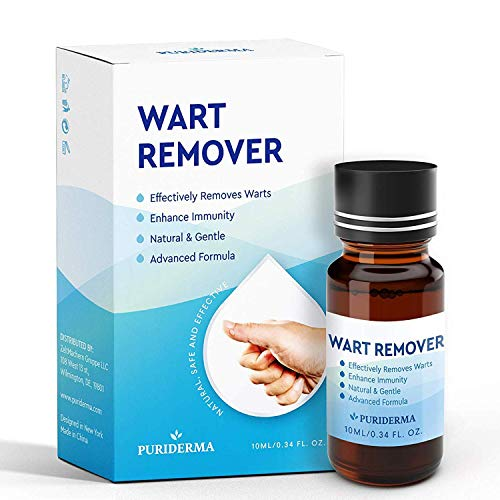 Maximum Strength Wart Removal Treatment by Puriderma - Pain-Free, Permanent Solution to Common, Plantar Warts (10ml)