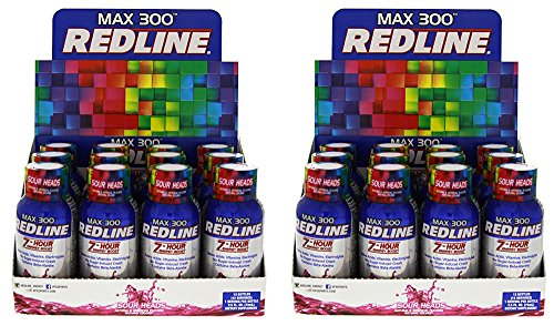VPX Redline Max 300 7-Hour Energy, Sour Heads, Packed w/Amino Acids, Electrolytes and Vitamins 24/2.5oz