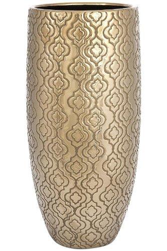 Harper Vase  18 5 Hx8 75 Diameter  Gold