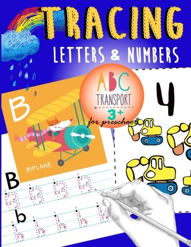 Designer Numbers - Tracing Letters & Numbers for preschool abc Transport 3+: A Fun tracing letter and number With truck,car,helicopter,airplane & More! (Letter Tracing Workbook Designer) (Volume 3)
