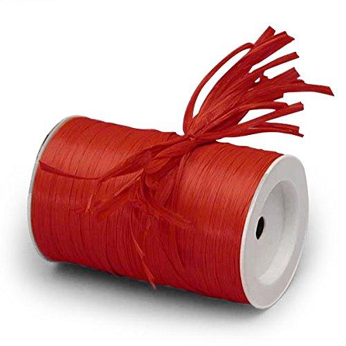 Red Matte Raffia Ribbon 1/4