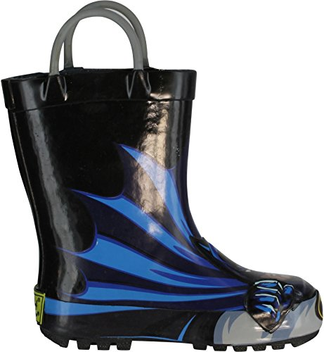 Western Chief Boys Printed Rain Boot, Batman, 10 M US Toddler